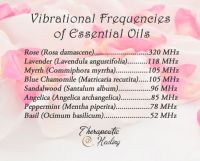 Vibrational Frequencies of Essential Oils